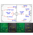 Soccer strategy drawing on whiteboard vector
