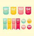 Modern soft color design button vector