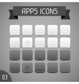 Collection of monochrome apps icons set 3 vector