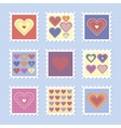 Happy valentines day stamps vector