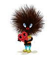 Cute hedgehog mascot vector