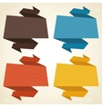 Origami background banner speech bubbles vector