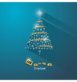 Blue abstract merry christmas background vector