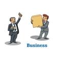 Cartoon happy businessmen characters vector