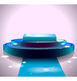 Shiny blue stage vector