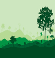 Ecology concept detailed forest tree background vector