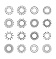 Set of sun web iconssymbolsign in flat style suns vector