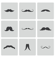 Black mustaches icons set vector