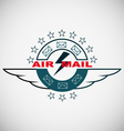 Stamp air mail vector