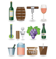 Drink and wine icons vector