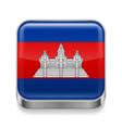Metal icon of cambodia vector