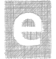 Freehand typography letter e vector