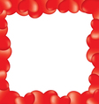 Heart 3d border vector