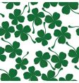 Four leaf clover pattern vector