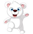 Baby polar bear posing vector