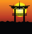 Chinese construction silhouette vector