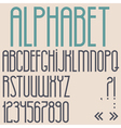 Retro font numbers and punctuation marks vector