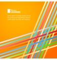 Rainbow lines over orange background vector