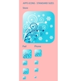 Blue christmas background icon vector