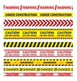 Yellow warning tapes with texts vector