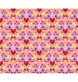 Hearts birds seamless pattern vector