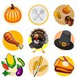 Happy thanksgiving sticker icon set vector
