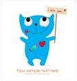 Cute monster card vector