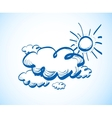 Hand drawing sky with clouds vector