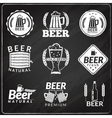 Beer chalkboard emblems vector