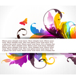 Background with colored floral ornament vector