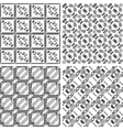 Set of monochrome geometrical patterns vector