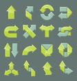 Design set of modern arrow vector