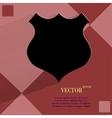 Shield flat modern web design on a flat geometric vector