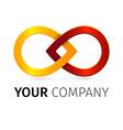Colorful iinfinity symbol conceptual icon vector