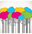 Creative colorful tree background vector