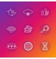 Set of social network icons in white silhouette vector