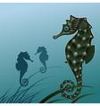 Fish sea horse vector