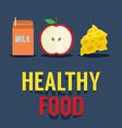 Flat design healthy food vector