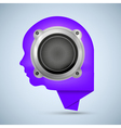 Face shape icon with speaker vector