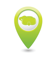 Mask symbol on green map pointer vector