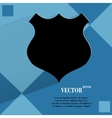 Shield flat modern web design on a flat geometric vector