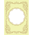 Vintage ornament frame vector
