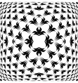 Design warped convex monochrome pattern vector