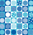 Blue geometrical background with squares and vector