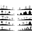 Tree landscapes vector