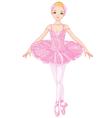 Pink ballerina vector