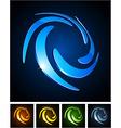 Color vibrant emblems vector