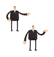 Set of funny cartoon businessman vector