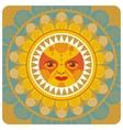 Concentric decorative summer sun vector