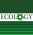 Ecology word for background vector